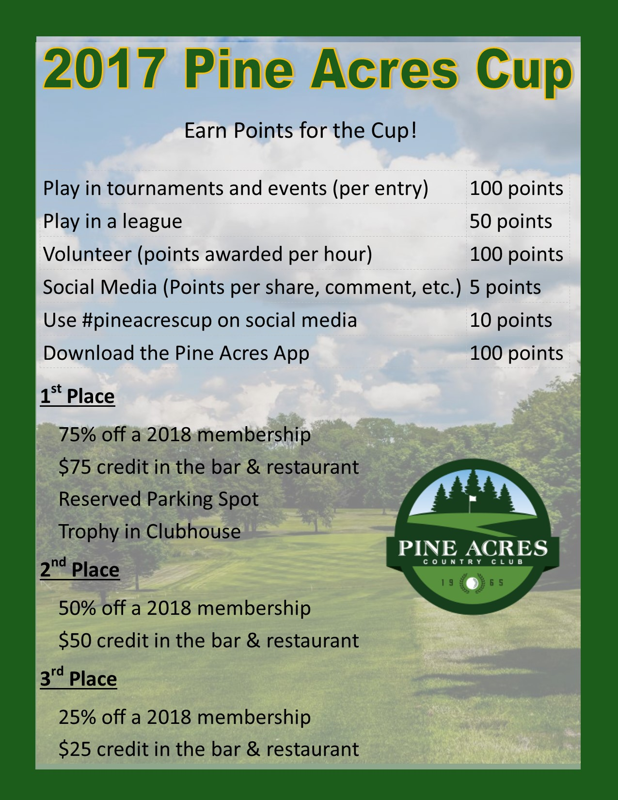 2017 Pine Acres Cup